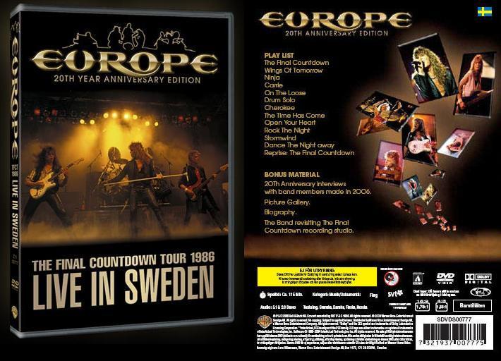 Live in Sweden front/back cover