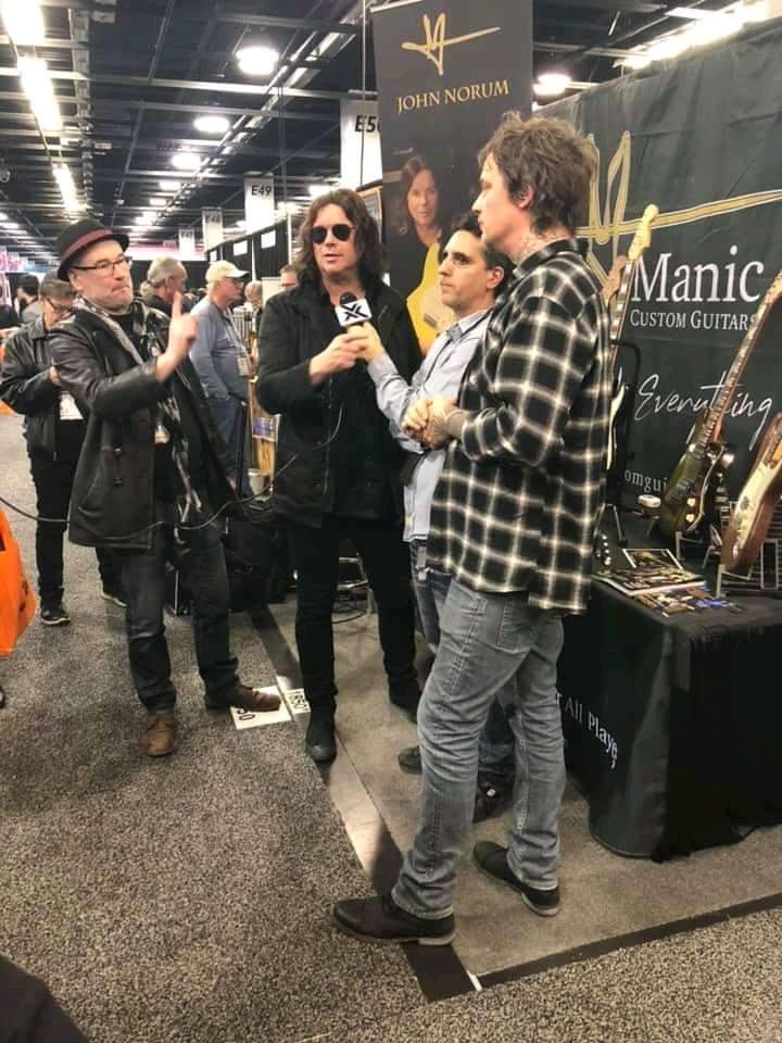 Manic Custom Guitars booth - NAMM 2020