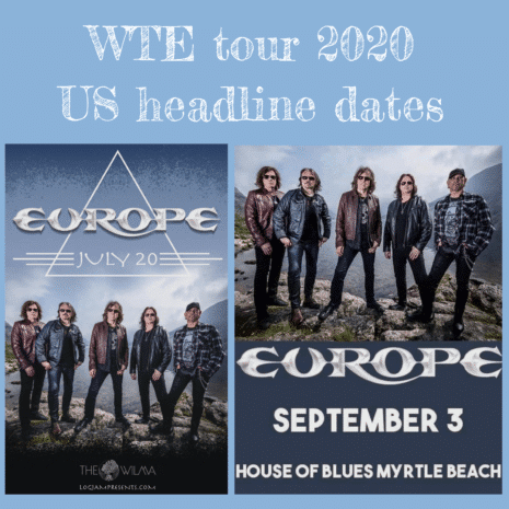 Europe's Tour the Earth - Headline dates in USA 2020