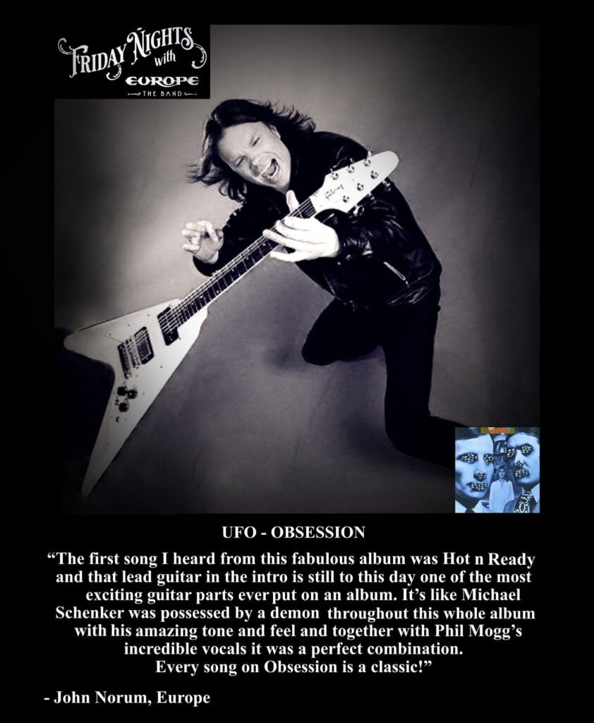 """Favorite album: """"Obsession"""" by UFO"""